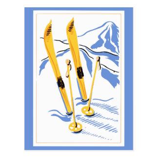 Vintage Ski Art Postcard