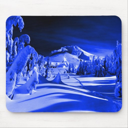 Vintage ski image mousepads