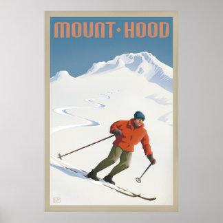 Vintage Ski Mount Hood retro travel poster