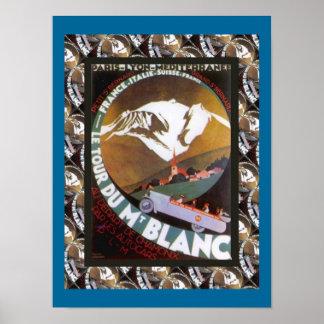 Vintage Ski Poster,  France, Tour de Mont Blanc Poster