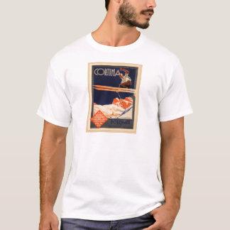 Vintage Ski Poster, Italy, Dolomites Cortina T-Shirt