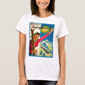 Vintage ski poster, Jungfrau region, Switzerland T-Shirt