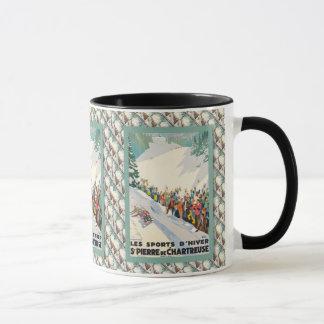 Vintage Ski poster, Saint Pierre en Chartreuse Mug