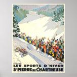 Vintage Ski Resort Poster from Switzerland
