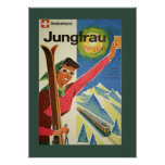 Vintage Skiing in Switzerland Poster