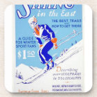 Vintage Skiing in the East WPA Poster Coaster