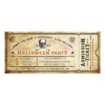 Vintage Skull and Bones Halloween Party Ticket Personalized Invite
