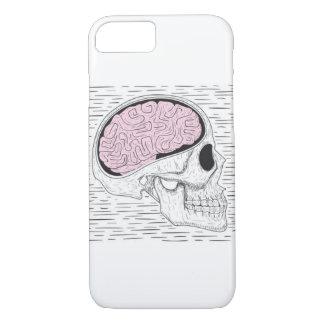 Vintage Skull and Brain Phone Case