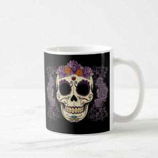 Vintage Skull and Roses Coffee Mug