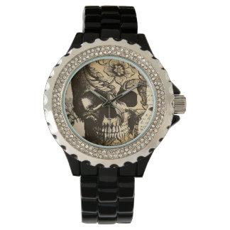 Vintage Skull Black and White Ladies Watch