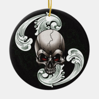 Vintage Skull Ceramic Ornament