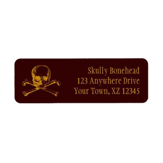 Vintage Skull & Crossbones Return Address Label