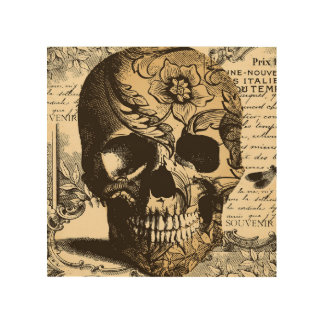 Vintage Skull Decorative Wood Wall Art