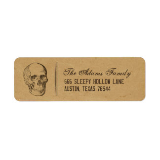 Vintage Skull Halloween Return Address Labels