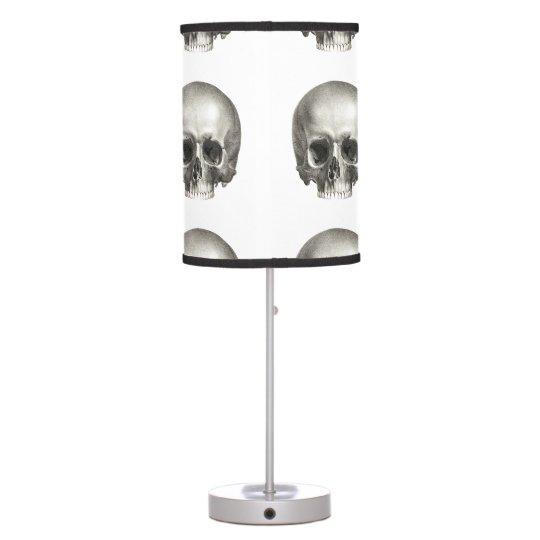 Vintage Skull Lampshade Table Lamp