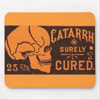 Vintage Skull Medicine Advertisement Mouse Pads