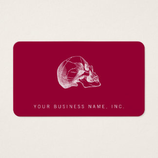 Vintage Skull Profile Illustration Business Card