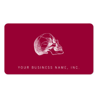 Vintage Skull Profile Illustration Pack Of Standard Business Cards