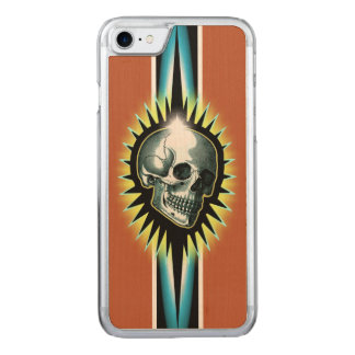 Vintage Skull Starburst Carved iPhone 8/7 Case