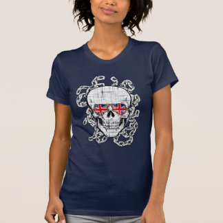 Vintage Skull with Union Jack sunglasses T-Shirt