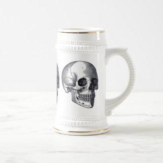 Vintage Skulls Gothic Punk Beer Stein