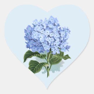 Vintage Sky Blue Hydrangea Flower Sticker