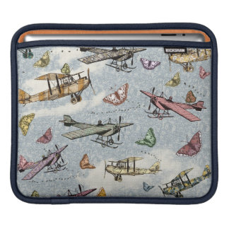 Vintage Sky - Planes and Butterflies iPad Sleeve