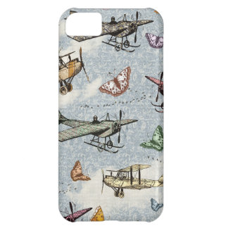 Vintage Sky - Planes and Butterflies iPhone 5C Cover