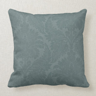 Vintage Slate Blue Throw Pillow