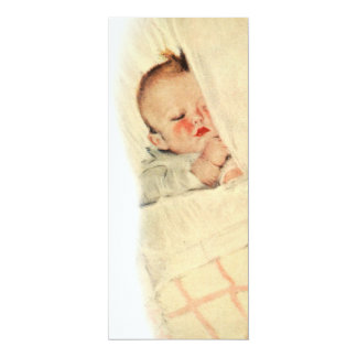 Vintage Sleeping Babe Baby Shower Invitations