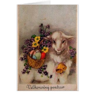 Vintage Slovak / Czech Easter Card
