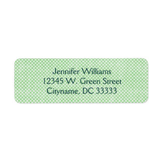 Vintage Small Green and White Dots Personalized