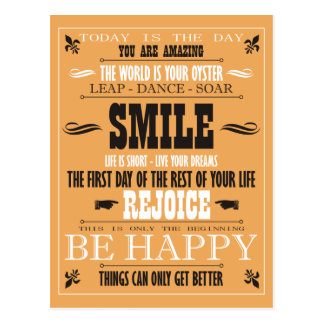 Vintage Smile Poster Postcard
