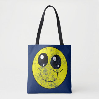 Vintage Smiley Face All over tote bag