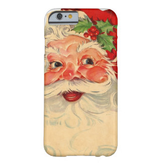 Vintage Smiling Santa Christmas Holiday Gift Item Barely There iPhone 6 Case