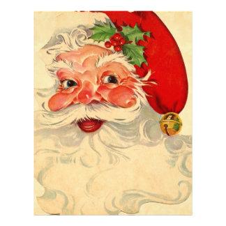 Vintage Smiling Santa Christmas Holiday Gift Item Letterhead Template