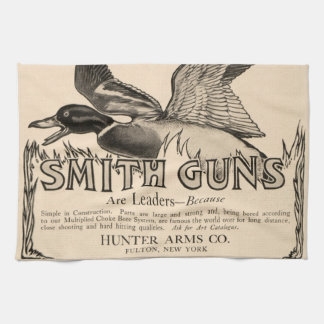 Vintage Smith Guns Duck Hunting Kitchen Towel