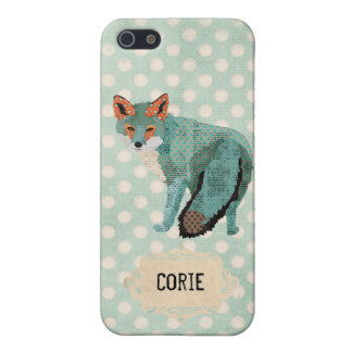 Vintage Smokey Fox Personalized Case iPhone 5/5S Cases