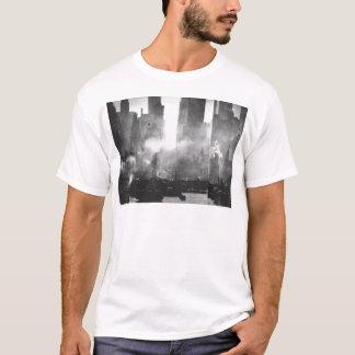 Vintage Smokey Gritty NYC Black and White Skyline T-Shirt
