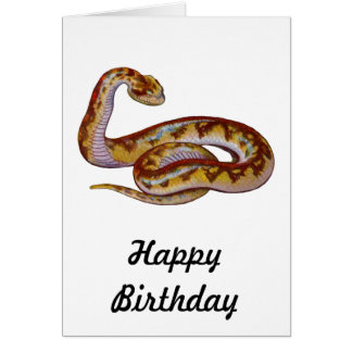 Vintage Snake Illustration Card