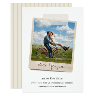 Vintage Snapshot | Photo Save the Date Card