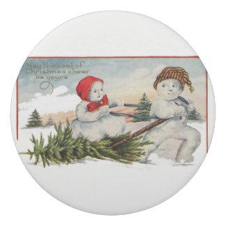 Vintage-snow-couple Eraser