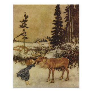Vintage Snow Queen Fairy Tale Poster