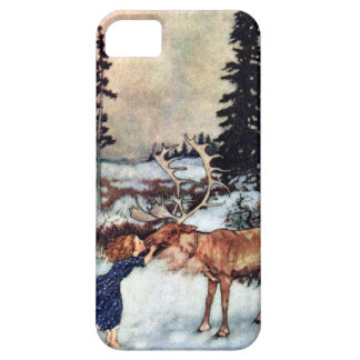Vintage Snow Queen Fairy Tale with Gerda iPhone 5 Cover
