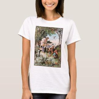 Vintage Snow White, Dwarfs & Prince Ladies T-Shirt