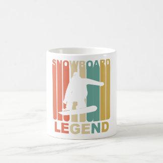 Vintage Snowboard Legend Graphic Coffee Mug