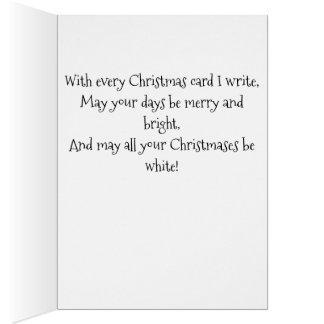 Vintage Snowboy Christmas Card