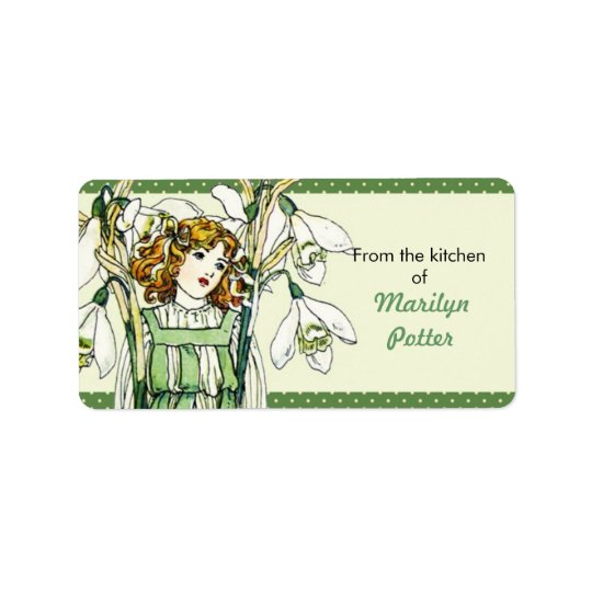 Vintage Snowdrop Girl Floral From the Kitchen Of