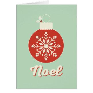 Vintage Snowflake Noel Folded Christmas Card