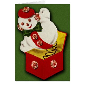 Vintage Snowman Christmas Card